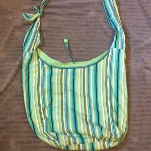 Striped Hobo Beach Bag